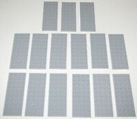 LEGO LOT OF 15 NEW 4 X 10 DOT LIGHT BLUISH GREY PLATES BUILDING BLOCKS PIECES