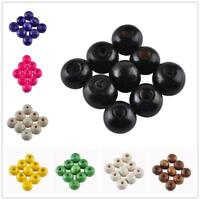 200pcs Wooden Beads 8mm 5AAA+ Round Handmade Spacer Bracelet Necklace DIY Craft