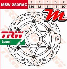 Disque de frein Avant TRW Lucas MSW 280 RAC pour Ducati 848 Evo Corse SE H6 12-