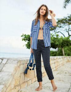 Boden Damen Hose Navy Rachel Chino Trousers -Dots   UK 10 36 EU38