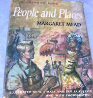 People And Places Margaret Mead HC Book A Rainbow Book 1959