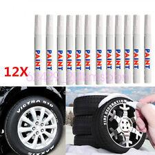 12 Pcs/Set Car Truck Waterproof Tire Tyre Tread White Permanent Paint Marker Pen
