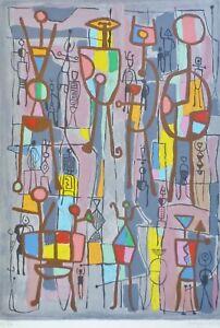 "MAYEU PASSA ""Clameur""Hand Signed Lithograph Japon 19/85 Vtg French Listed Artist"