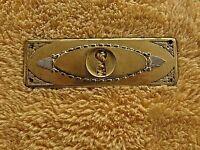 ancienne entrée de serrure horizontale en alu doré- XVI-meuble/commode/tiroir