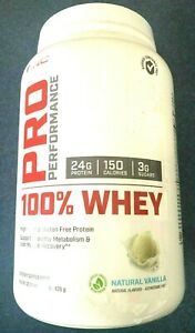 GNC Pro Performance 100 Whey Protein Natural Vanilla 2.06 lbs. Expires 03/2022