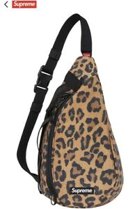 Supreme Leopard Sling Bag Fw20 IN HAND READY TO SHIP