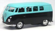 VW Bus (1963) Bulli T1 neon hellblau / schwarz Modellauto 1:37 von WELLY Neuware
