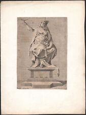 1591 Rare gravure Allégorie la fertilité fécondité La pompa funerale Mythologie