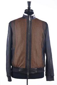 RRP $8500 Stefano Ricci Deer  Leather Men  Jacket -Size 58 (US48)