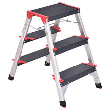 3 Step Aluminum Lightweight Ladder Folding Non-Slip Platform Stool 330Lbs Load