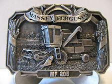 Massey Ferguson 205 Combine Belt Buckle 1986 Limited Edition #682 mf Pewter