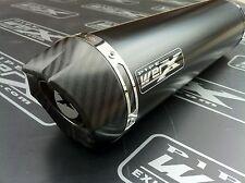 Suzuki GSXR 750 Y,K1 K2 K3 K4 K5 Black Round,Carbon Outlet,Exhaust Can, Rd Legal