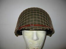 """CASQUE US M1 """"U"""" FIXES - VERSION """"LUXE"""" - 1942 - RAYONNE - LINER """"ST-CLAIR"""""""