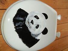 Panda Bear Toilet Seat/ Hand Painted/ Panda/ Black And White/ Standard Size