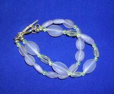 Lavender & Citrine Beaded Double Row Bracelet