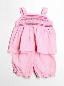 Toddler Girl Rosalina Pink Gingham Smocked Top Shorts Summer Set Size 24 Months