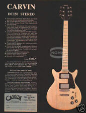 CARVIN GUITAR PINUP AD vtg 70's electric DC150 Stereo