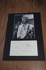 JOHNNY HALLYDAY signed 8x12 inch autograph matted InPerson Germany LOOK