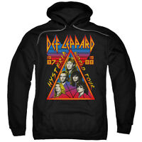 DEF LEPPARD HYSTERIA TOUR Licensed Adult Hooded and Crewneck Sweatshirt SM-3XL