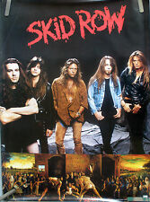RARE SKID ROW SLAVE TO THE GRIND 1991 VINTAGE MUSIC RECORD STORE PROMO POSTER