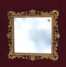 Espejo de Pared Barroco Oro Con Vidrio 38x36 bar Antiguo baño Shabby C533