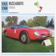 1965-1968 BIZZARRINI STRADA Classic Car Photo/Info Maxi Card