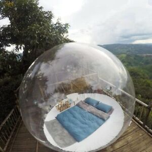 Outdoor Camp Inflatable Bubble Igloo Tent Transparent 360° Dome with Air Blower