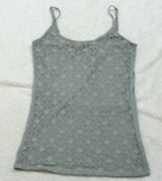 Tank Top Tee T-Shirt Sleeveless Small Great Northwest Gray Rayon Spandex Womens