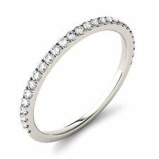 Colvard Round Moissanite Engagement Ring, 0.30Ctw 14K White Gold Band, Charles &