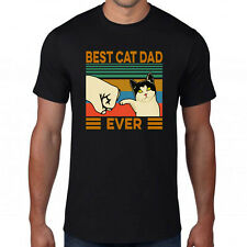 Best Cat Dad Ever T-Shirt,Lover Bump Yelling Man friend Father's Valentine Day