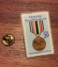 "USPS Stamp Pushback Pin Lapel Hat Plastic Pin ""Honoring Those You Have Served"""