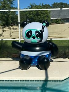 RARE Giant 7ft Inflatable Snorkel Panda Blow Up Standee Toy