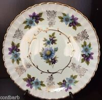 "AVON Flower Plate WOOD & SONS BURSLEM ENGLAND, ALPINE WHITE IRONSTONE 10"" PLATE"