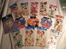 Lot of 11 Pack New Walt Disney Stickers + 3 Booklets