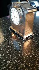 More details for solid sterling silver clock fully hallmarked  birmingham 1914