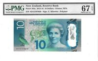 NEW ZEALAND 10 DOLLARS 2015 RESERVE BANK PICK 192 a LUCKY MONEY VALUE $340
