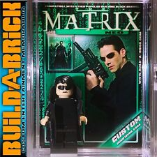 The Matrix Neo Custom Mini Action Figure w Display Case, Card Stand Mini-fig 496