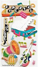 EK SUCCESS JOLEE'S BOUTIQUE 3-D STICKERS  PIANO TROMBONE HORN MUSIC LESSONS