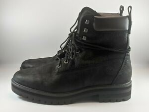 Timberland Mens Courma Guy Waterproof Leather Boots Size 13 Black Full Grain