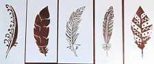 Feather Stencil/Template 5 Pack Reusable See Description