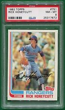 1982 Topps Rick Honeycutt #751 PSA 8 NM-MT Texas Rangers