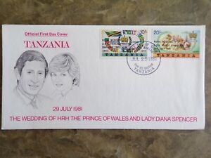 Tanzania 1981 Royal Wedding First Day Cover, SG 325/326