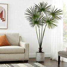 New! Nearly Natural 7' UV Resistant Indoor/Outdoor Fan Palm Tree in Planter $175