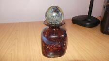 DD133: Signed Mdina Art Glass Vase / Perfume Bottle with stopper