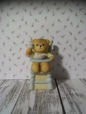 Enesco Lucy Rigg Bears, Lucy & Me, Teddy Bear, Baby in Blue High Chair, Rattle