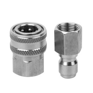 5X(Stainless Steel Pressure Washer Adapter Set G3/8 Inch Female Connect