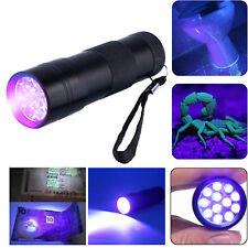 WATERPROOF 9 LED ALUMINIUM ULTRA VIOLET UV FLASHLIGHT TORCH LIGHT LIGHTING LAMP