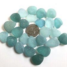 Surf-Tumbled GENUINE Sea glass Beautiful Beach Glass Jewelry/Crafts Blue d5