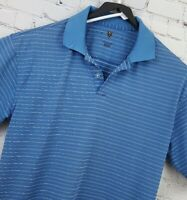 EUC Nike Golf Fit Dry Mens Short Sleeve Golf Polo Shirt Size L Blue