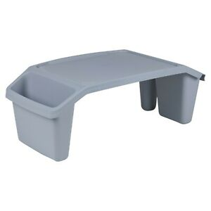 Portable Plastic Bed Tray Table PC Work Station Desktop Sofa Serving Breakfast